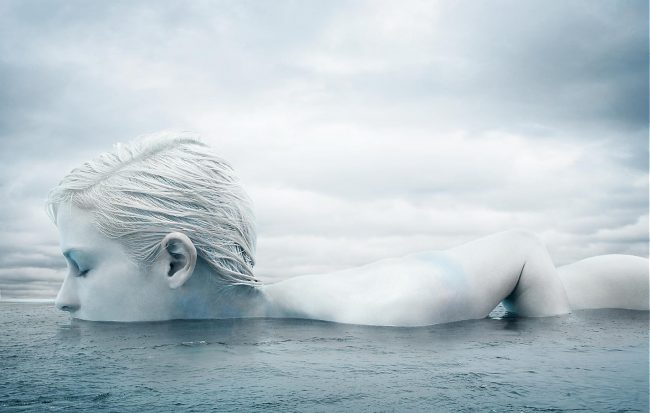 Underwater Fashion Photography Michael David Adams Photographer Arctic Beauty Marie Claire Magazine