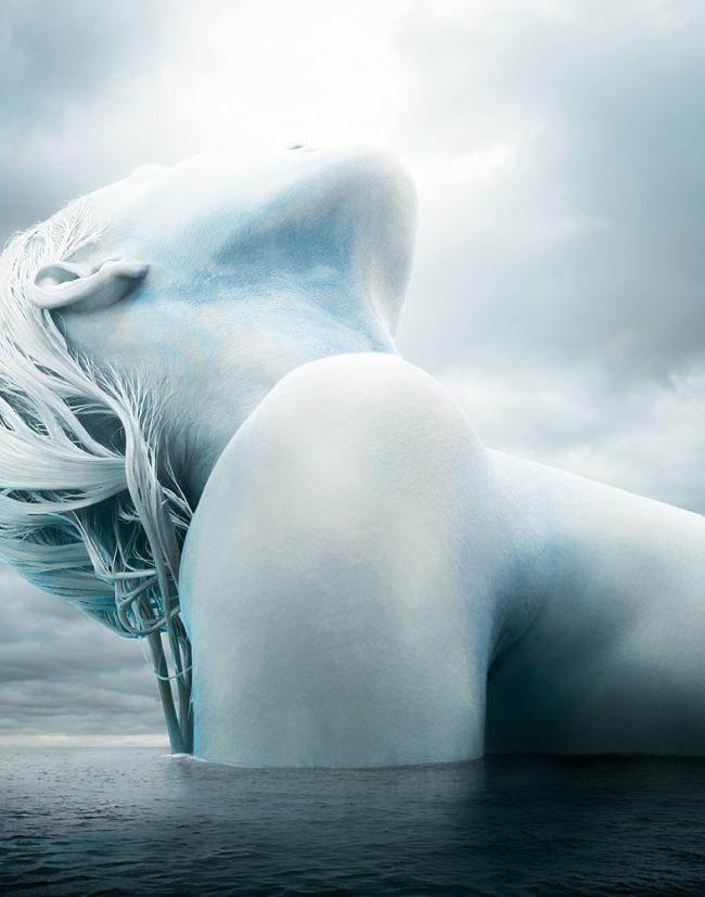 Underwater Fashion Photography Michael David Adams Photographer Arctic Beauty Marie Claire Magazine