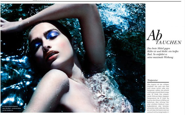 Underwater Fashion Advertising Photography Michael David Adams Photographer Lucija Jelcic Croatia Elle Magazine