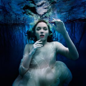 Underwater Fashion Advertising Photography Michael David Adams Photographer Snow Drop Anastasia Safanov Morgane Le Fay