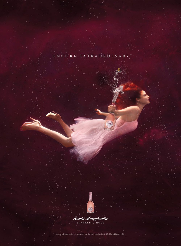 Underwater Advertising Santa Margherita Rose Wine