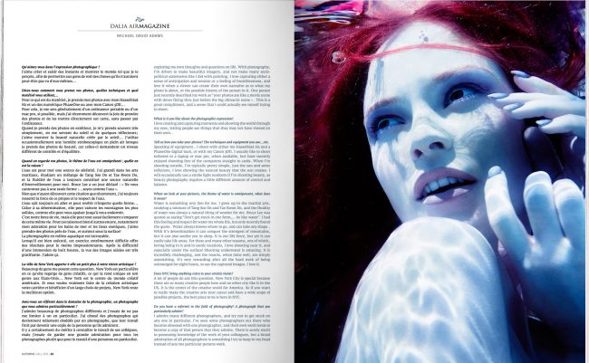 Underwater Fashion Advertising Photography by Michael David Adams photographer Interview