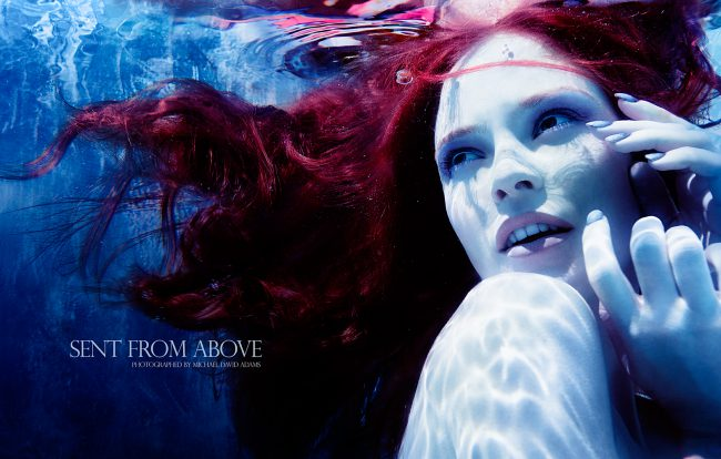 Underwater Fashion Photography Michael David Adams Photographer Sent from Above Cecile Sinclair