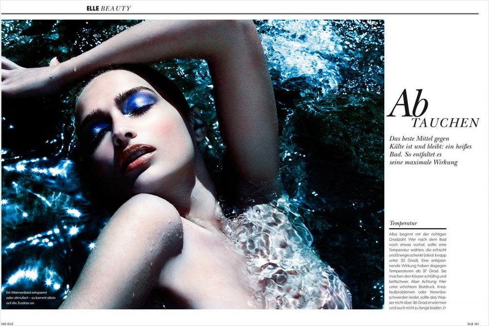 Underwater Fashion Advertising Photography Michael David Adams Photographer Lucija Jelcic Croatia Elle Magazine