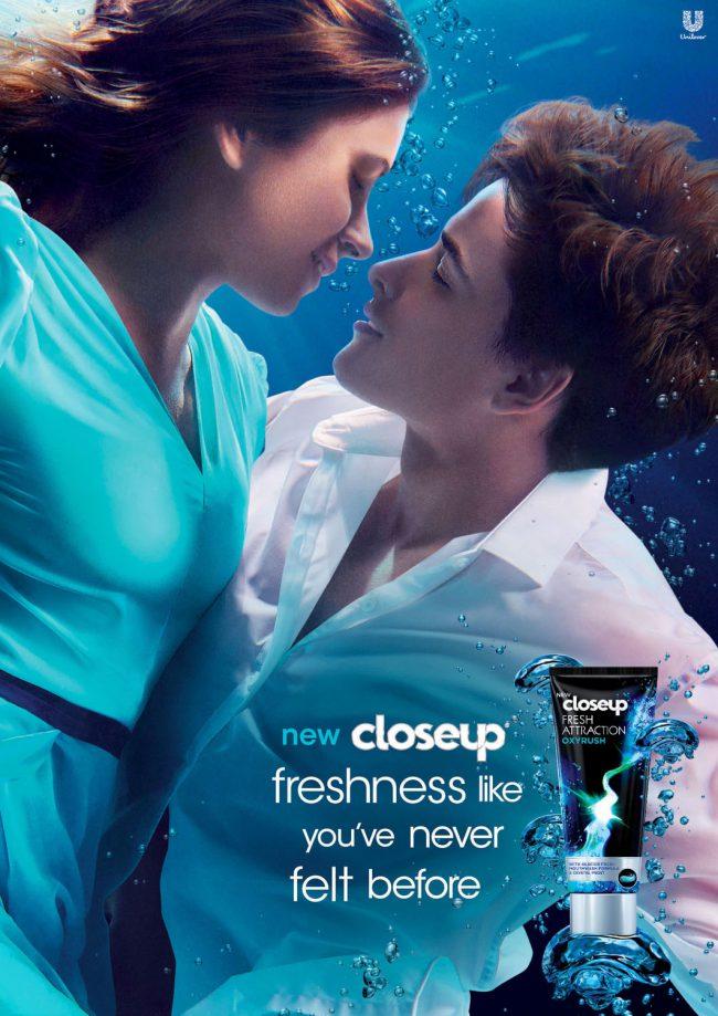 Underwater Fashion Advertising Photography Michael David Adams Photographer Closeup ad campaign