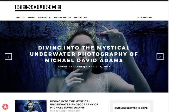 Underwater Fashion Advertising Photography Michael David Adams Photographer Snow Drop Anastasia Safanov Morgane Le Fay